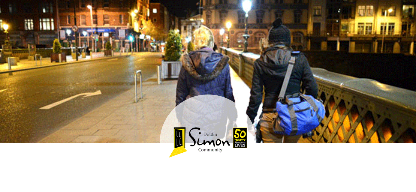 Dublin Simon Community work to prevent and address homelessness in Dublin, Kildare, Wicklow, Meath, Louth, Cavan, and Monaghan. We provide services at all stages of homelessness and enable people to move to a place they can call home.