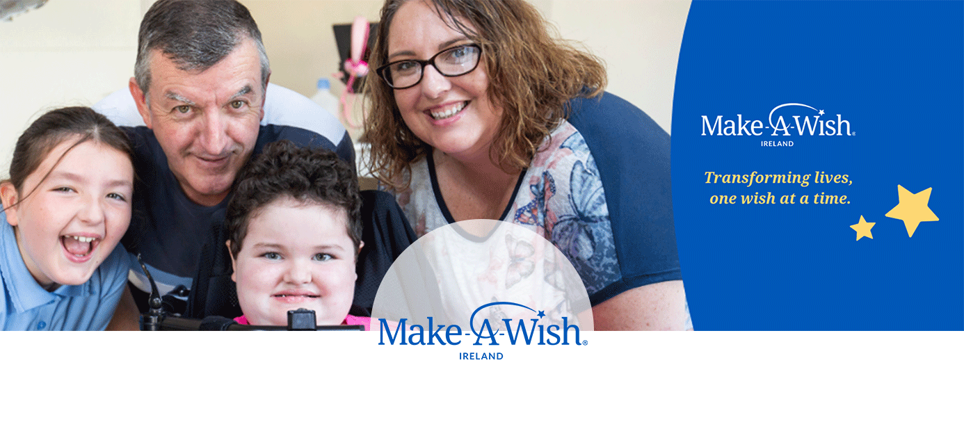 Make-A-Wish Ireland has been creating life-changing wishes for children with serious illnesses since 1992. We believe that a wish has a lasting impact on the life of a wish child and their family. Therefore, our vision is that every child living with a life-threatening illness in Ireland is granted a wish as part of their treatment. For children battling a serious illness, a wish is more than a dream. It can be a turning point that can give them the emotional and physical strength to keep going.