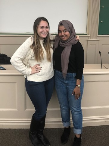Katie (NYU Law Women) and Rawdah (Hillcrest High School)