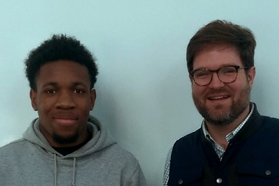 Wacine (Academy of Finance & Enterprise) and Patrick (Citi)