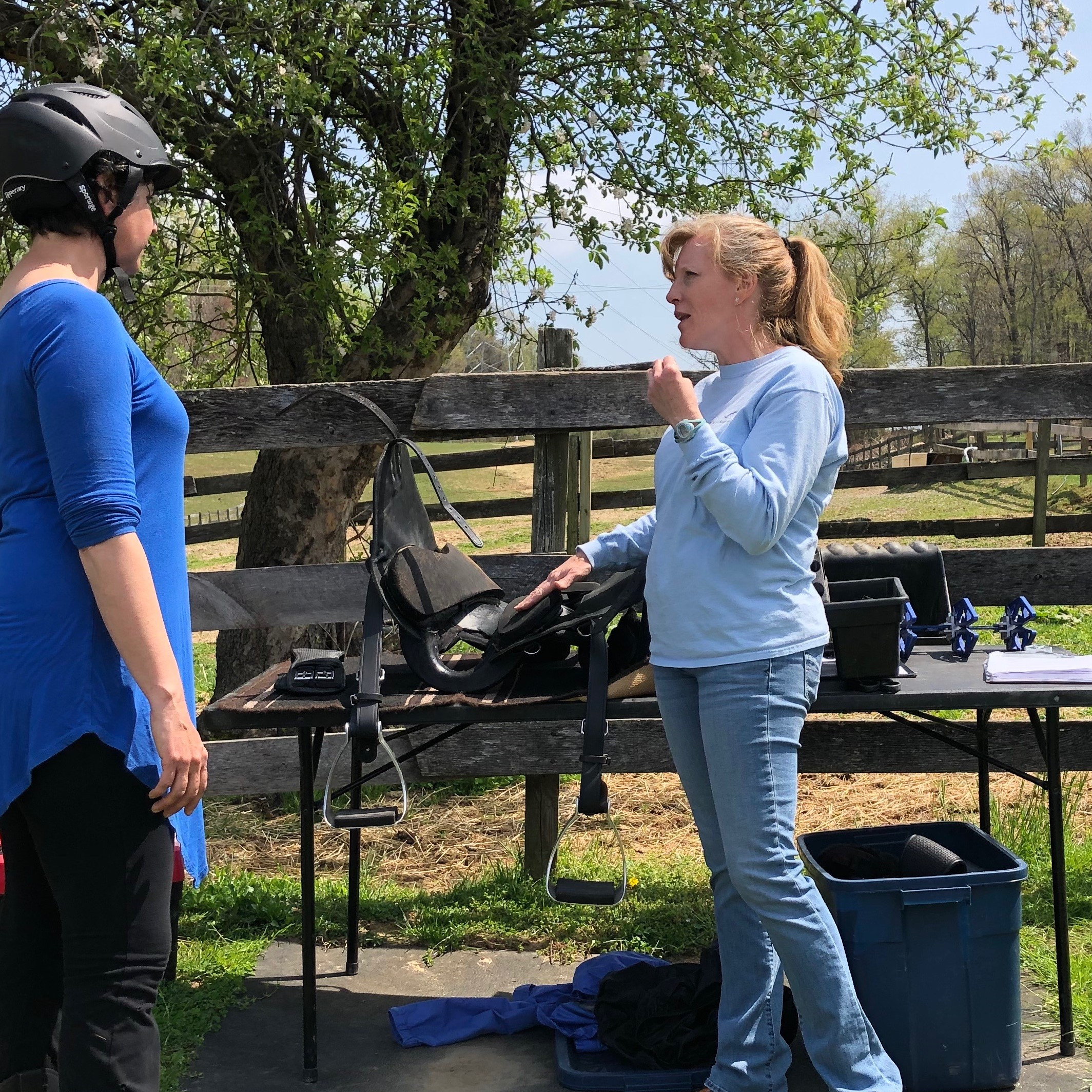 - Karen will end by discussing her findings with you and she will give recommendations for the best possible outcome for both horse and rider comfort and performance.