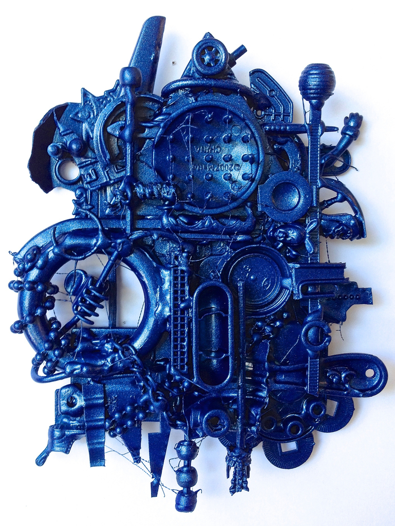 Blue Razor, 2015. Multimedia, 6 X 4 X 2 inches.