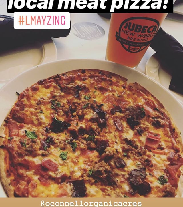 Have you checked out @lmayeatery yet? We partnered with them for a stellar pizza featuring our meat. Go get some! #organic #organicmeat #ooameats #oconnellorganicacres #oconnellorganicacresmeat #organicpizza #smallfamilyfarm #organicfarmingrocks
