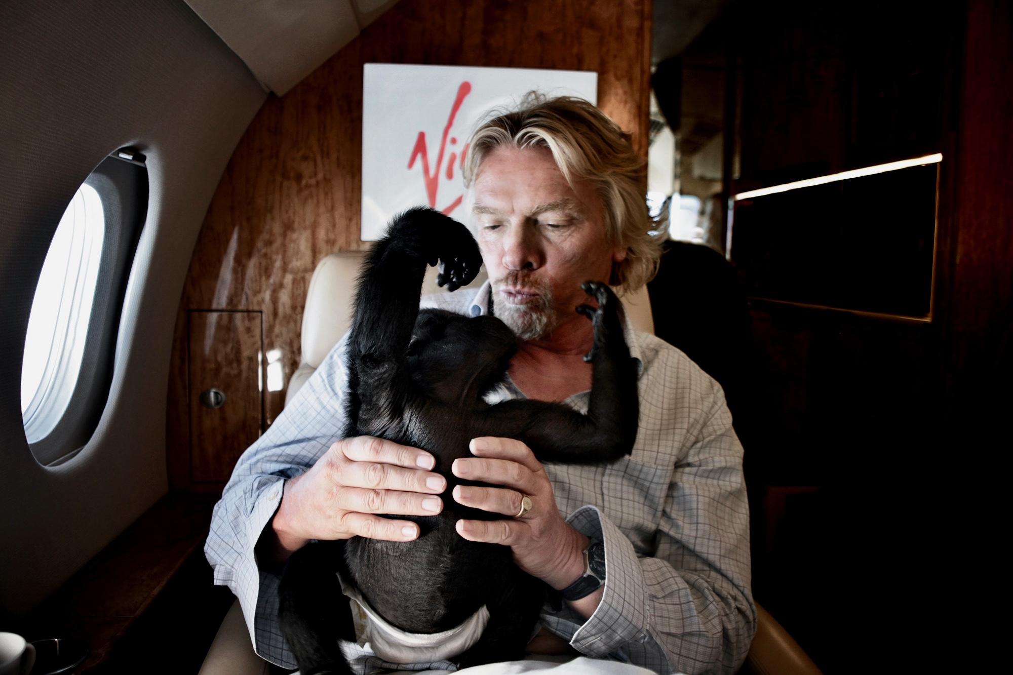 Richard Branson and Tiya