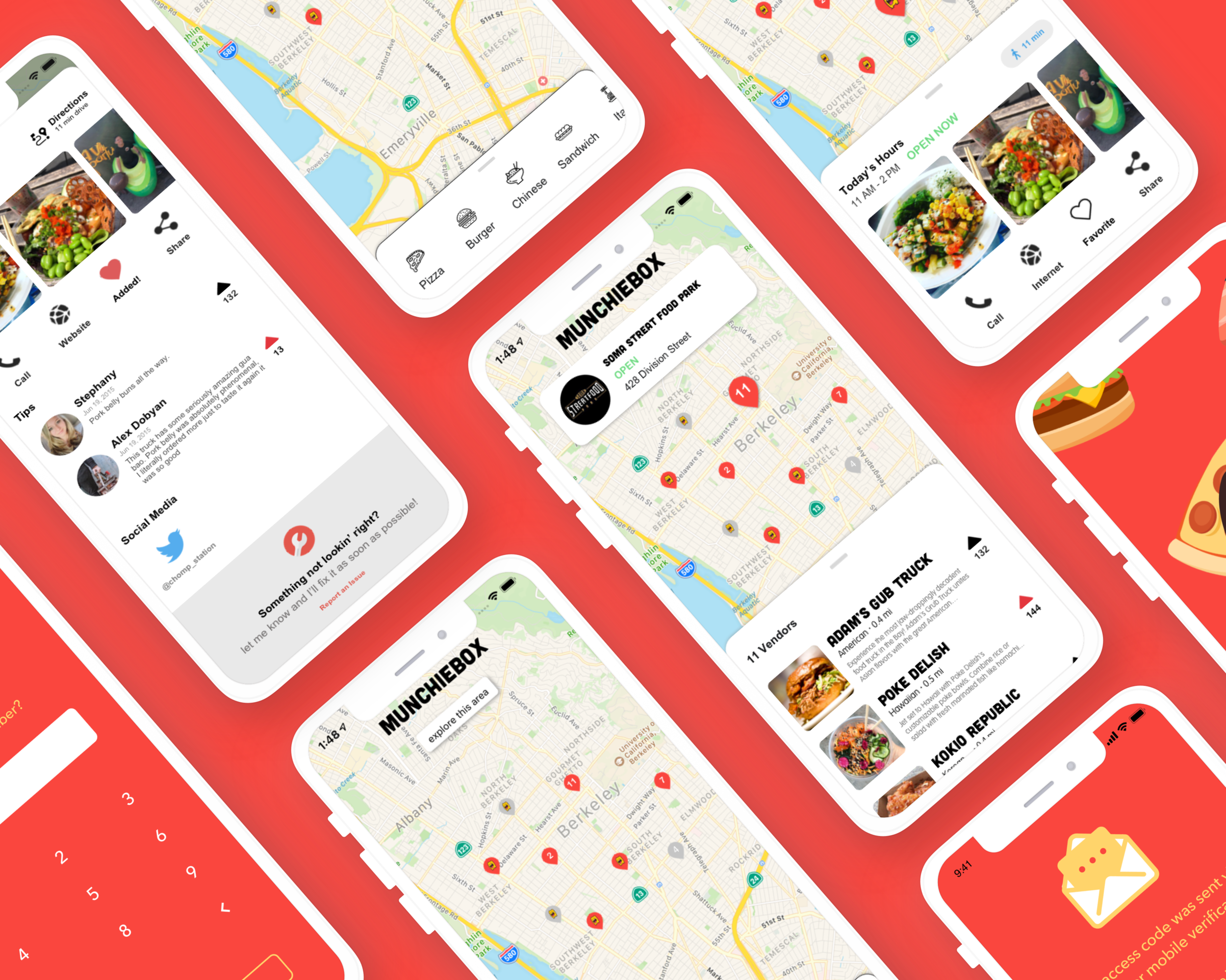 MunchieBox Mobile  Food truck locator platform