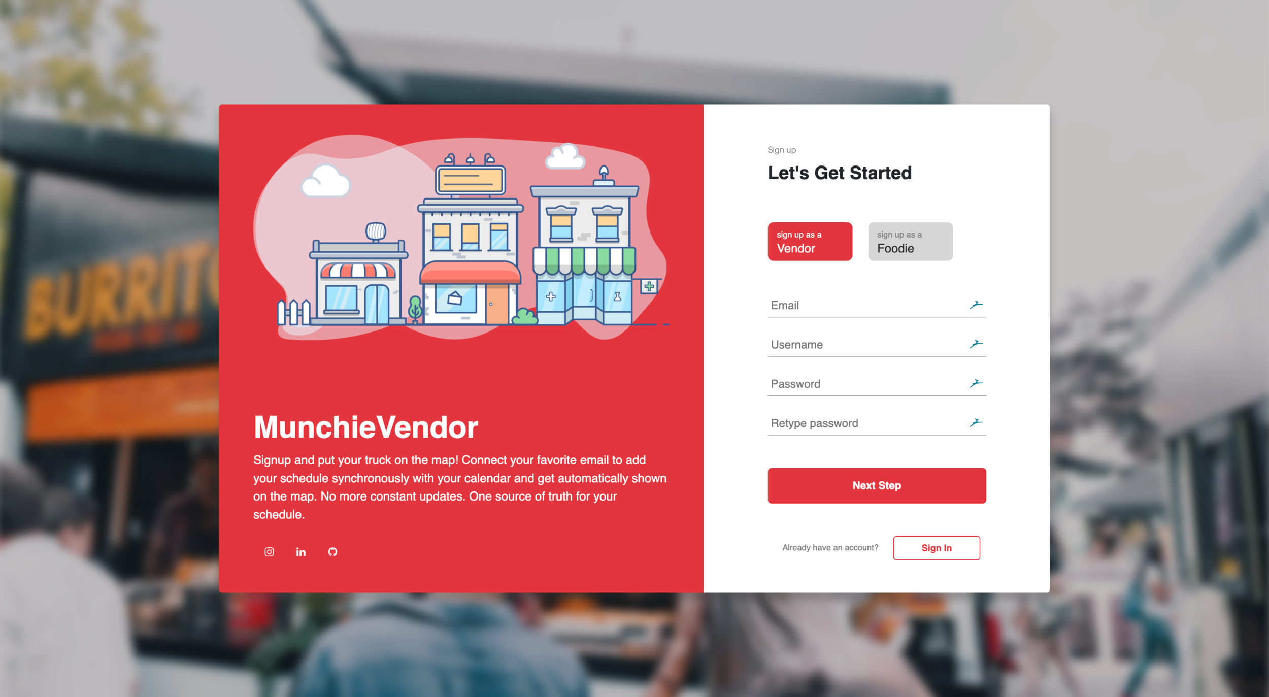 MunchieBox Web  Food truck locator platform