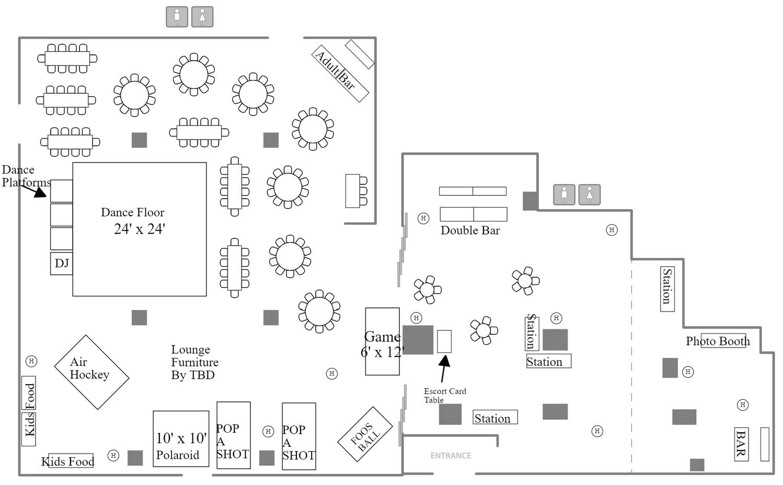 Mitzvah Sample Setting Floor Plan