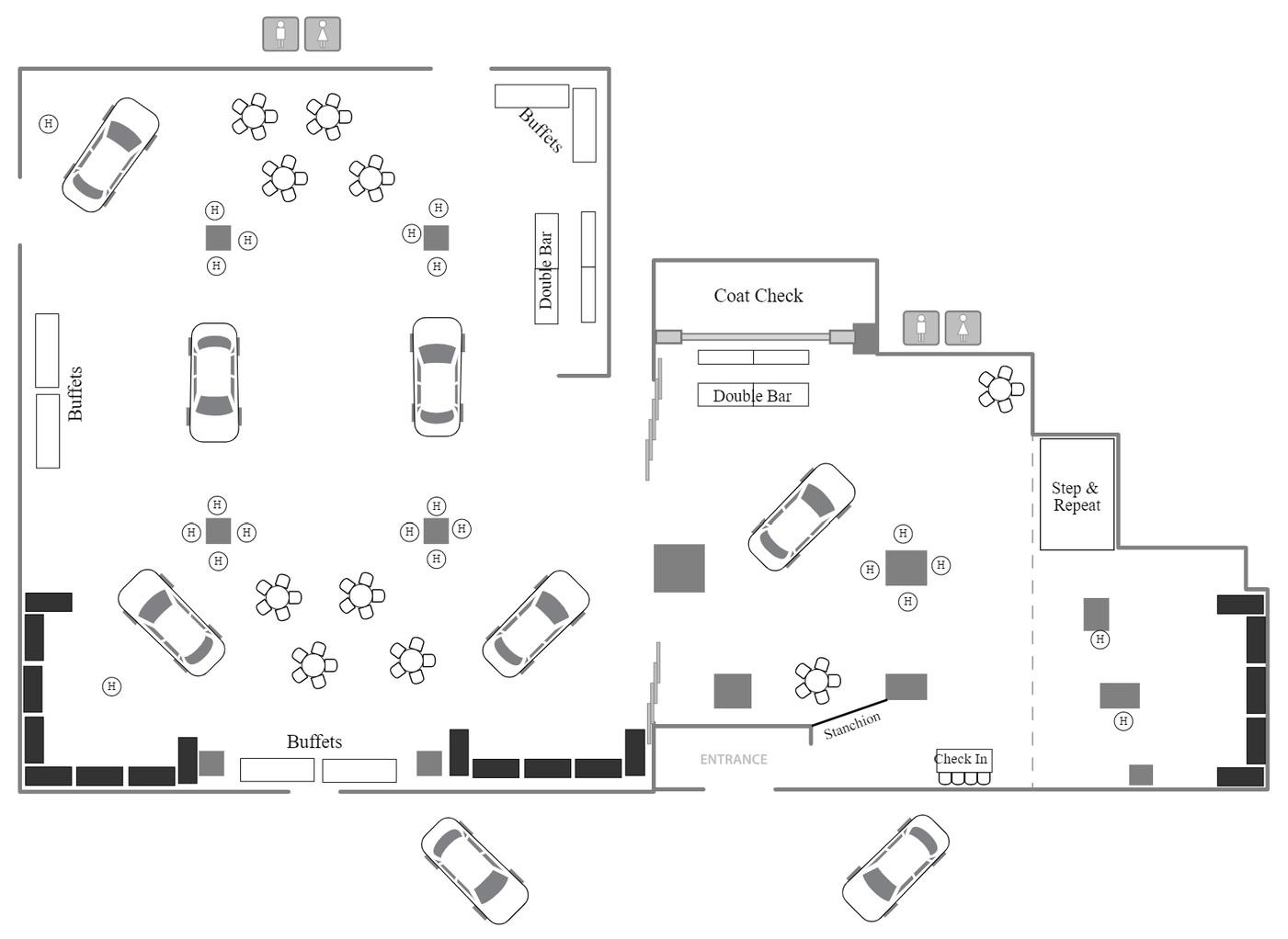 Auto Show Reception Floor Plan