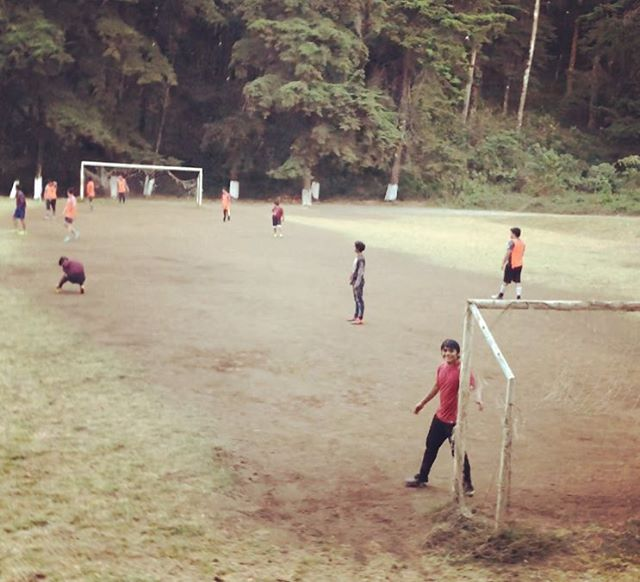Friday night fútbol...love that goalie! #imhisbiggestfan