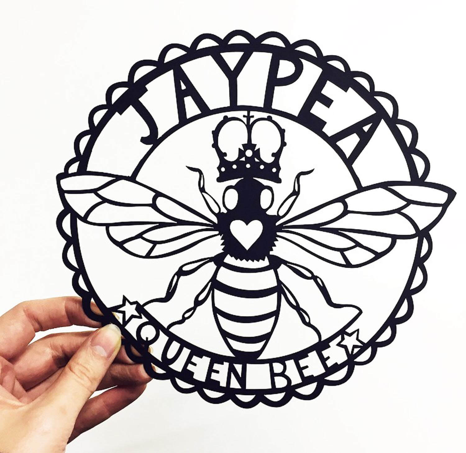 Queen-Bee-Paper-Cutting-Commission