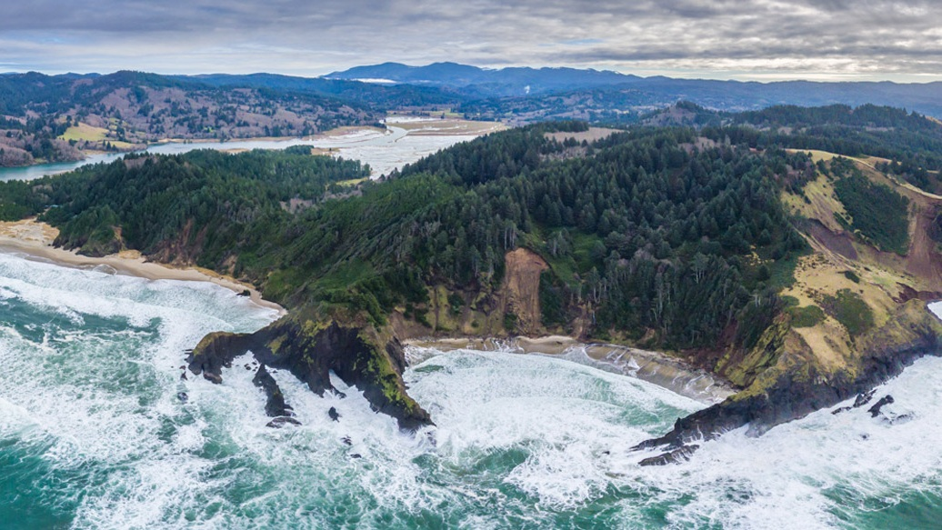 Crescent Cove and the beginning of the Marine Reserve at Cascade Head