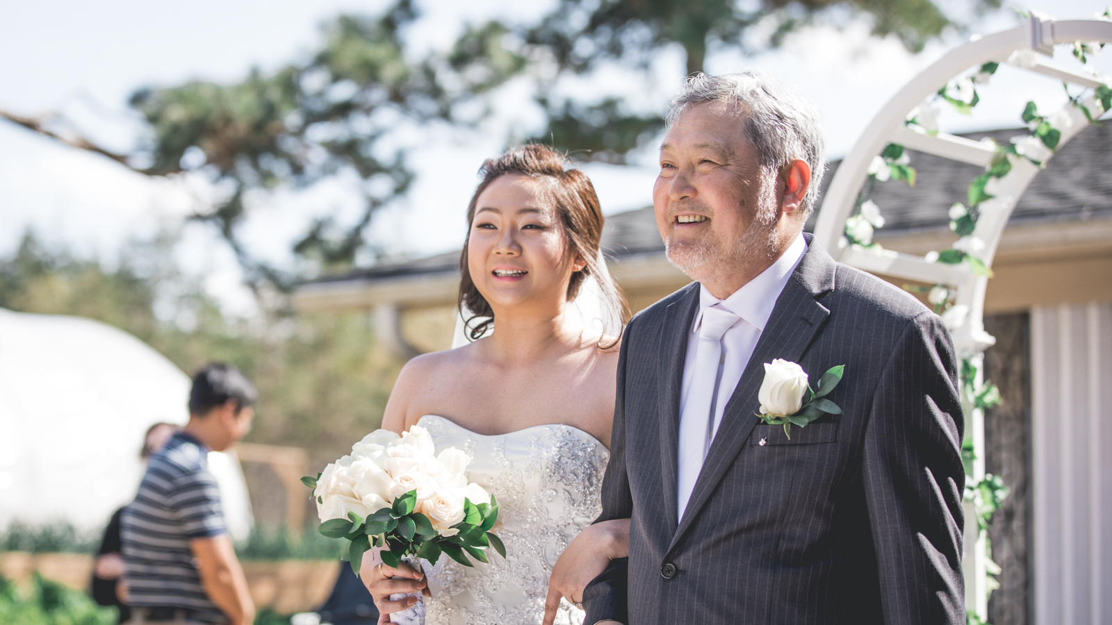 Korean Father walks daughter down the aisle