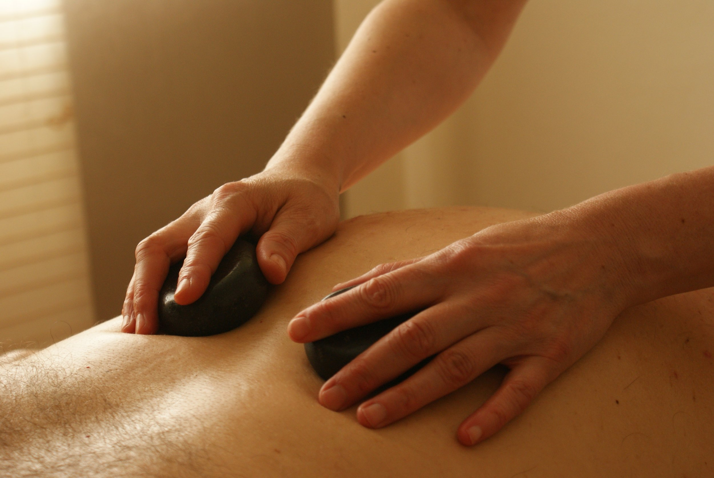 Hot Stone - This deep heat massage is very relaxing and soothing for the body and mind. Smooth basalt stones, are oiled and heated, then used to manage the entire body, promoting deep relaxation of the muscles and tissues.This is an additional $20