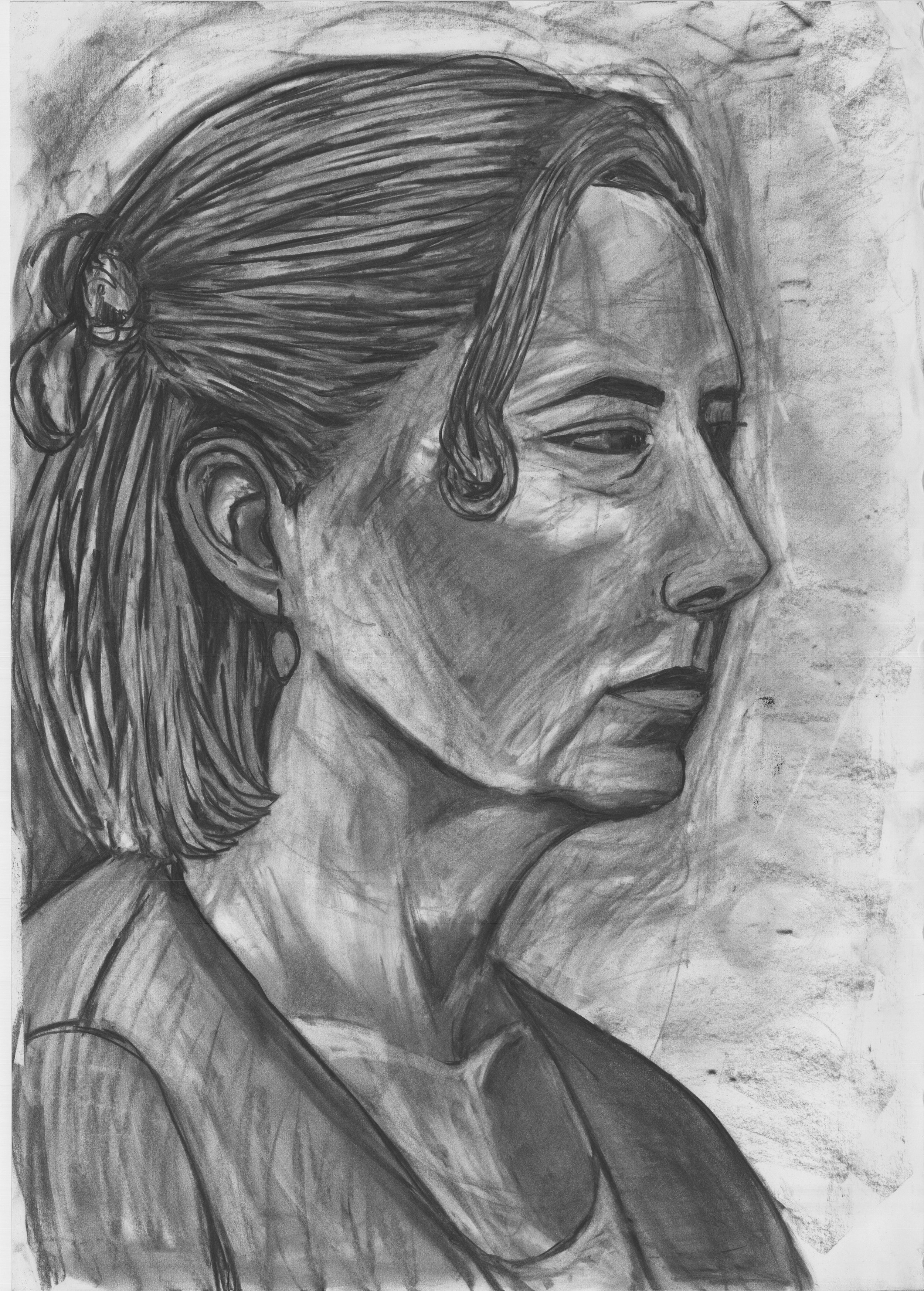 Linda (2017)  Charcoal on Paper