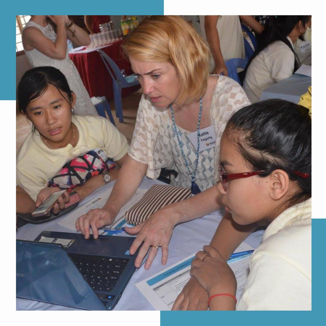 - Facilitating LinkedIn training + storytellingworkshops in Cambodia