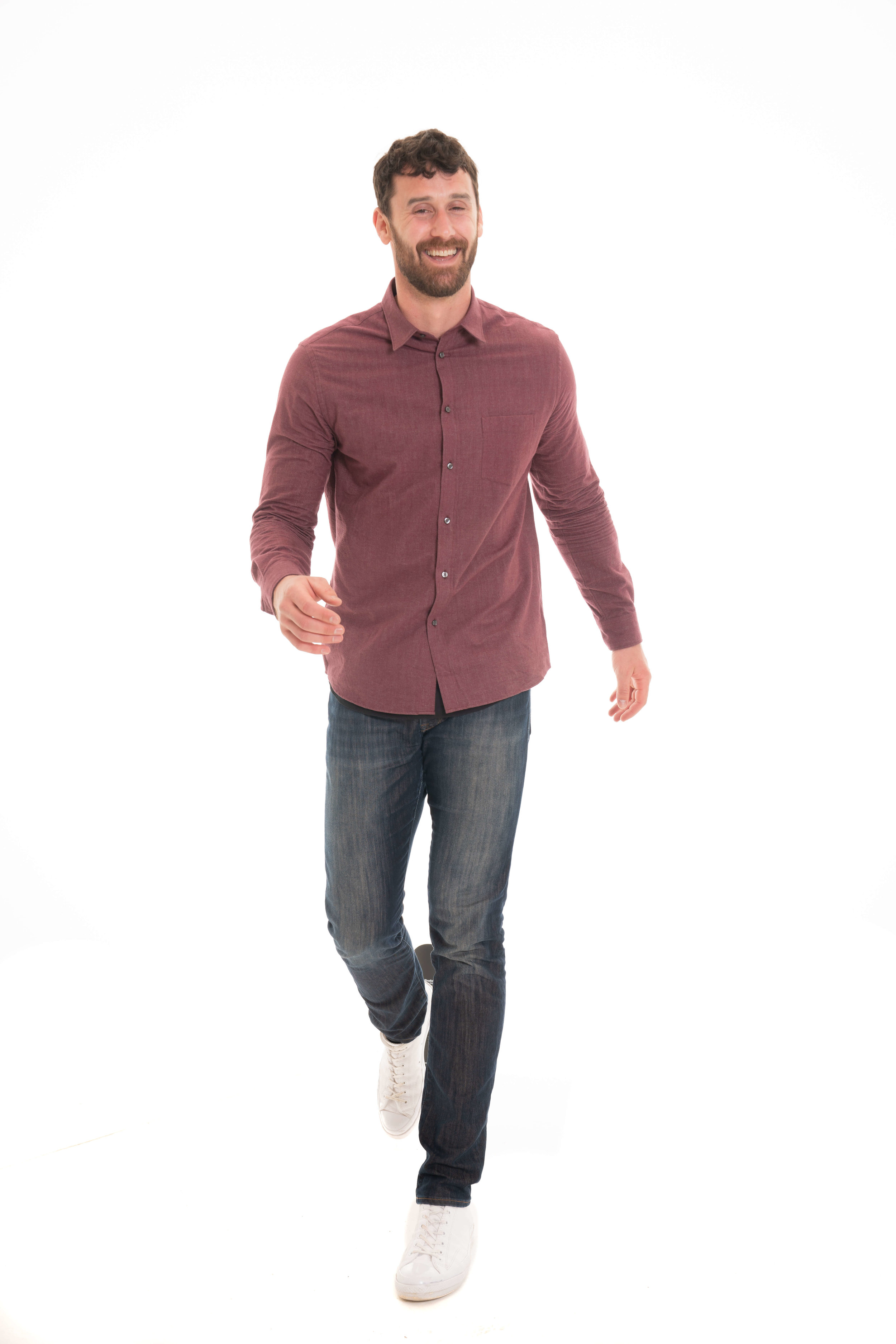 Jeans and Dress Shirt -