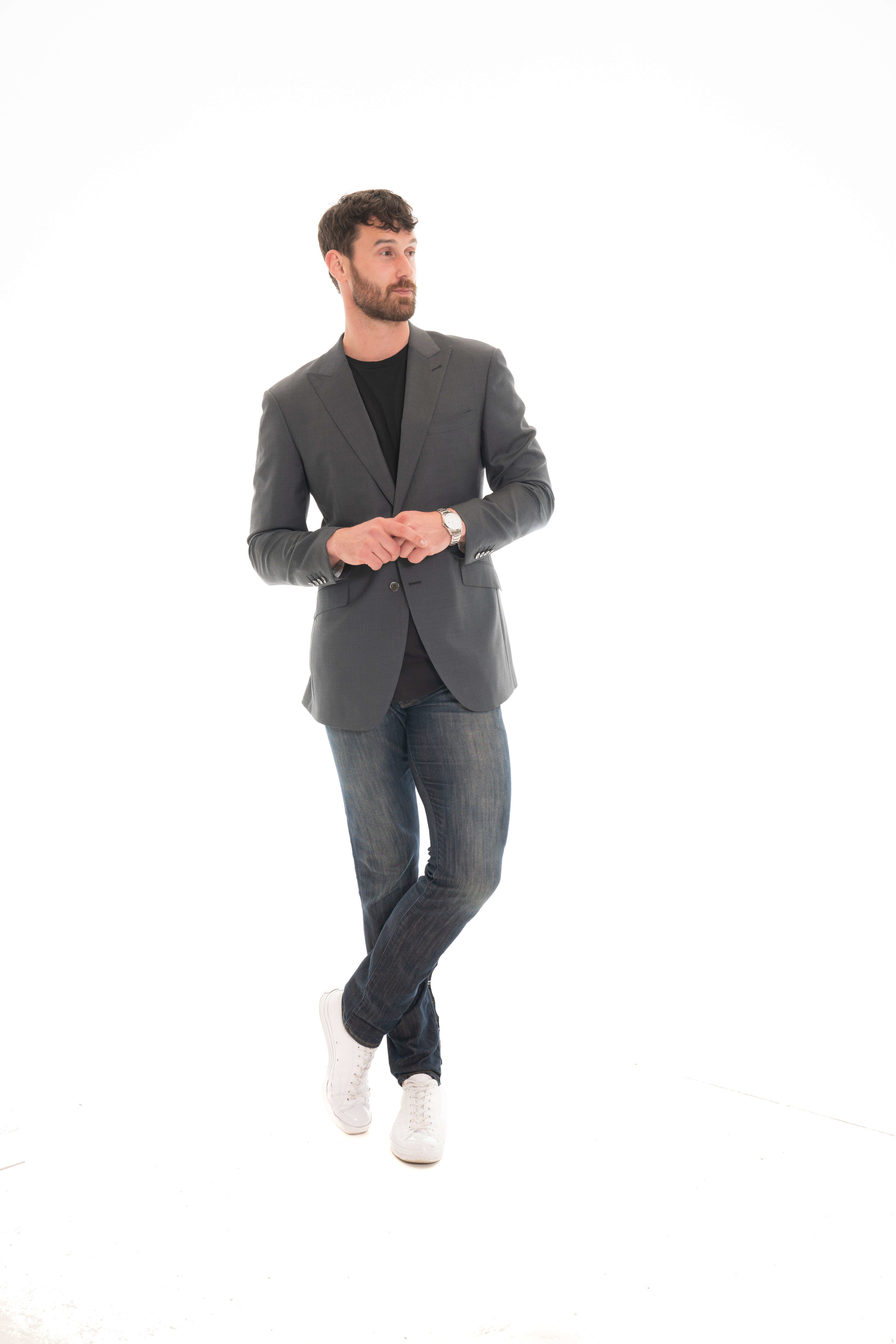 Jeans and Suit Jacket -