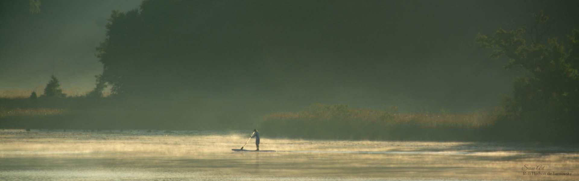 Paddleboarding on Lake Beulah