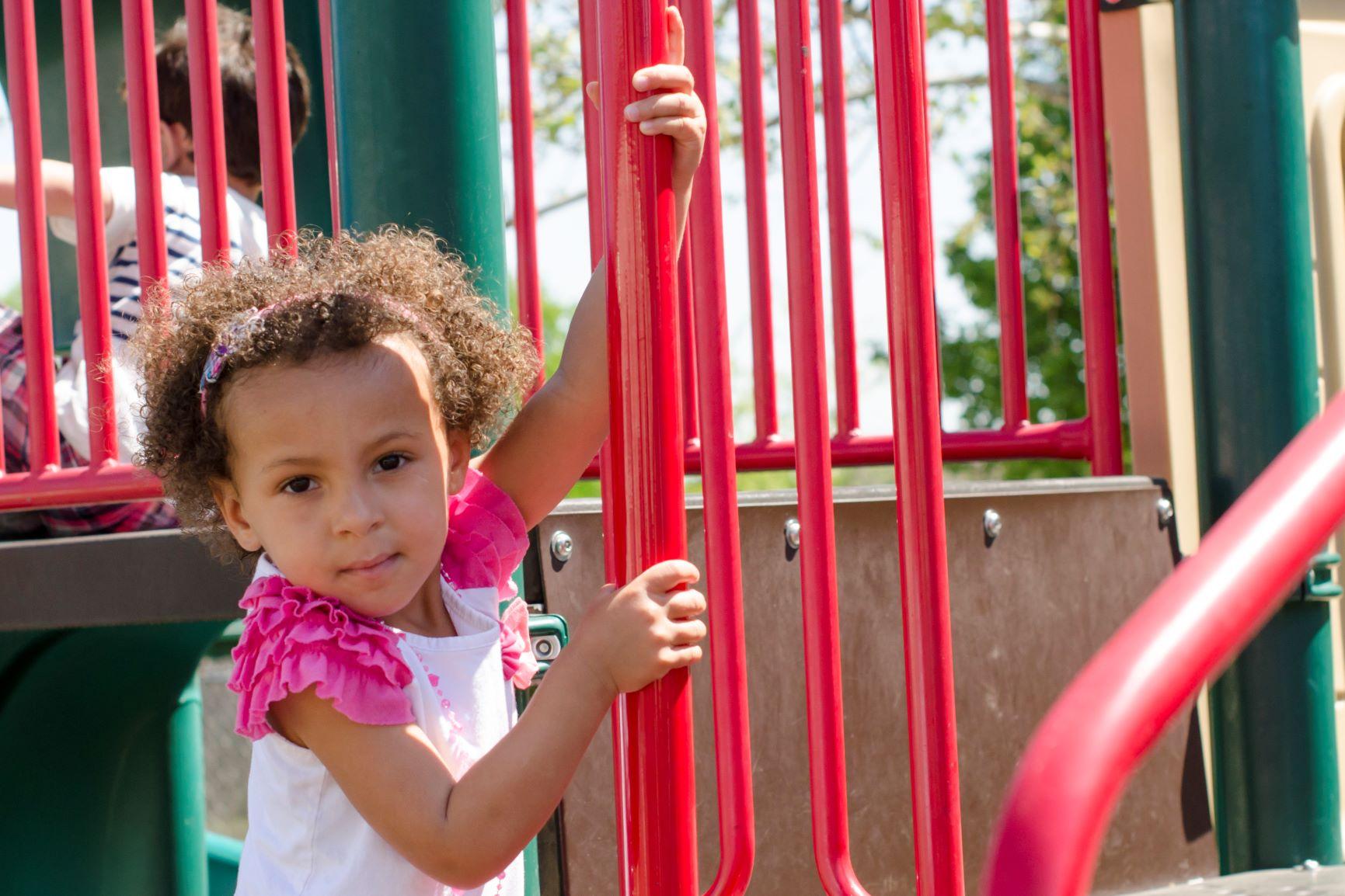 Preschool African American Girl Outside on Spiral.jpg