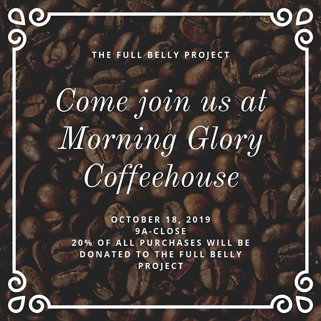 The Full Belly Project is having a fundraiser on October 18 at Morning Glory Coffee House! Be sure to stop by and tell them you want to donate to FBP, and 20% of your purchase will automatically be donated to continuing our mission!  #nonprofit #fundraiser #groupraise #wilmingtonnc #downtownwilmington #coffeeforacause