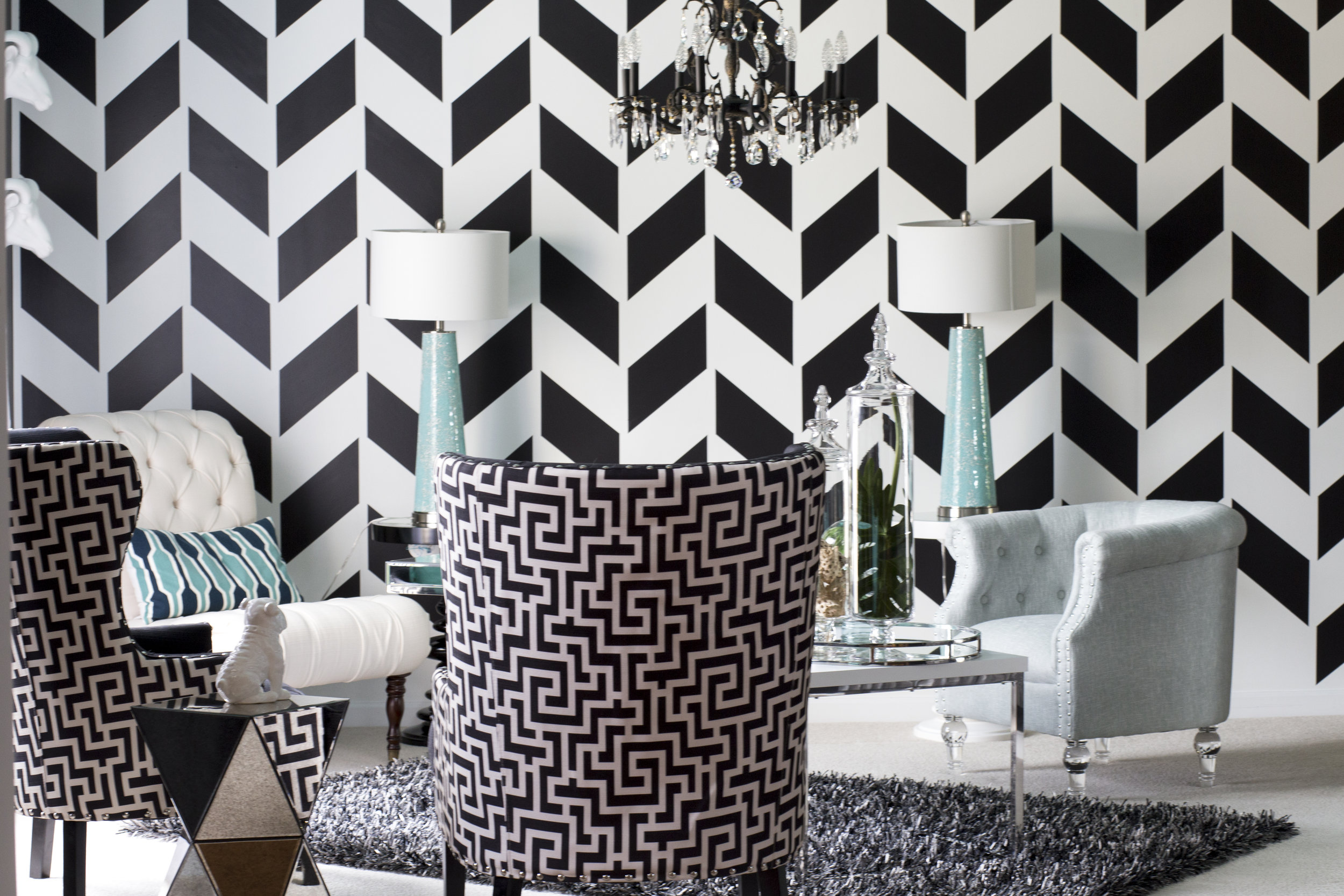 Black and White Lounge Design