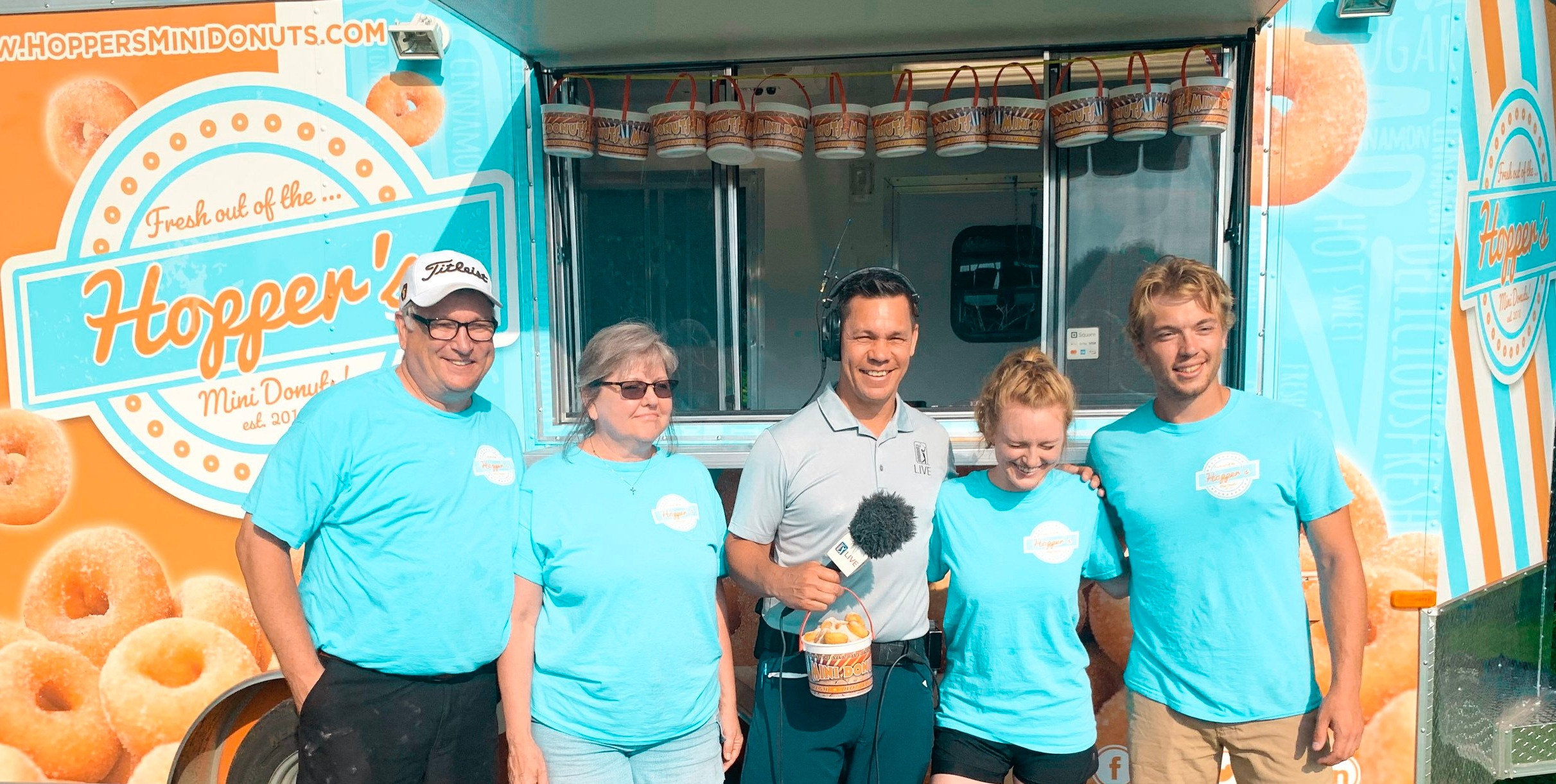 Hoppers at the PGA Tour | 3M Open. (L-R) Lee, Karen, Phil Tataurangi, Sara, & Cody