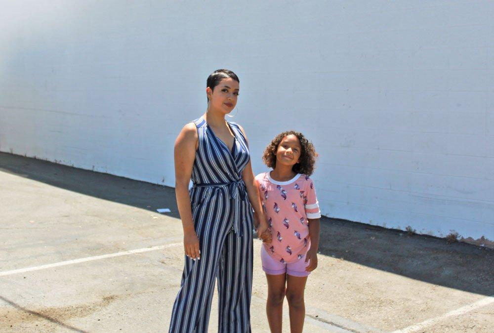 Sharon Larios and daughter Sa'niah. Photo by Seth Combs.