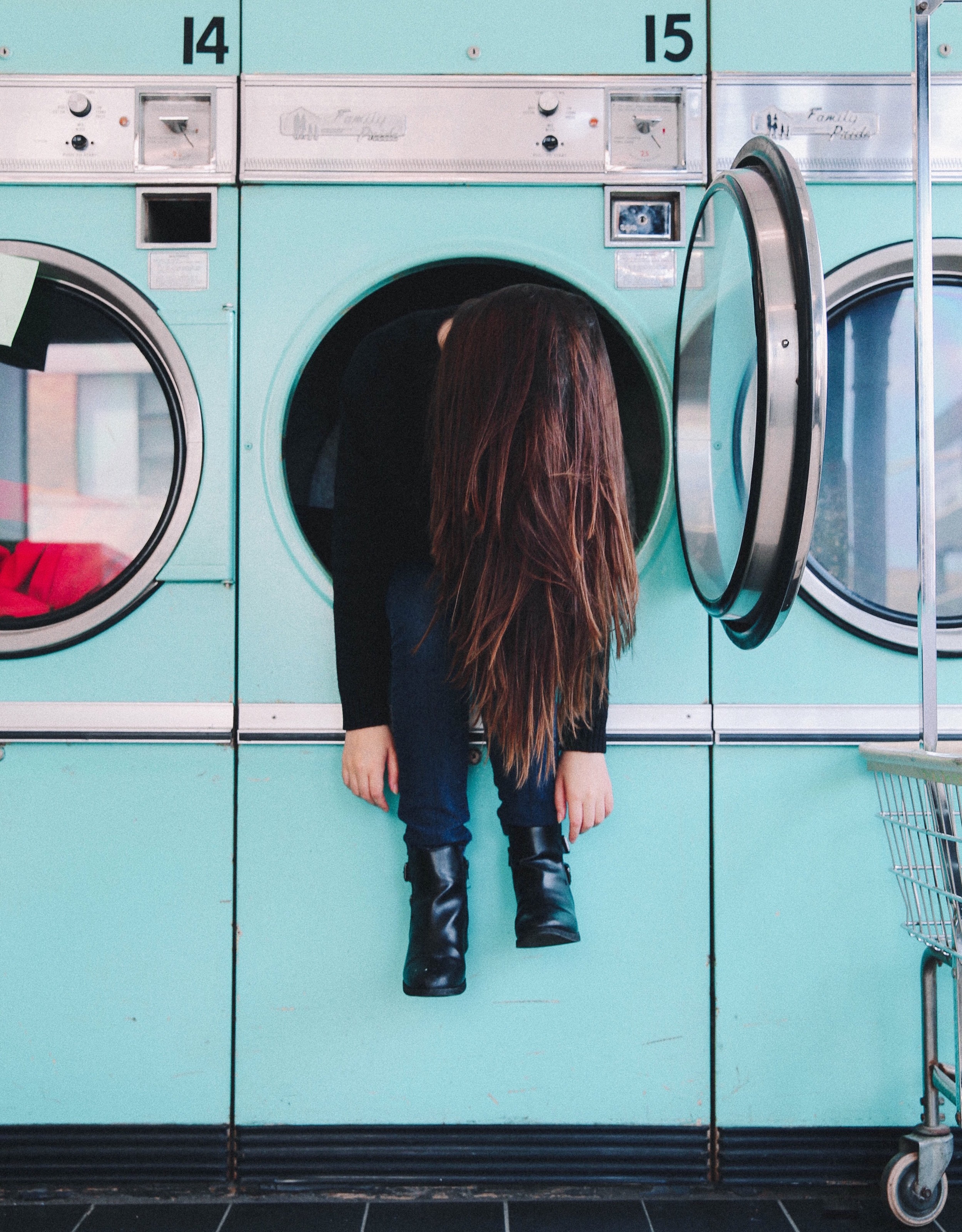 laundry matt, tired, gretchen has the floor