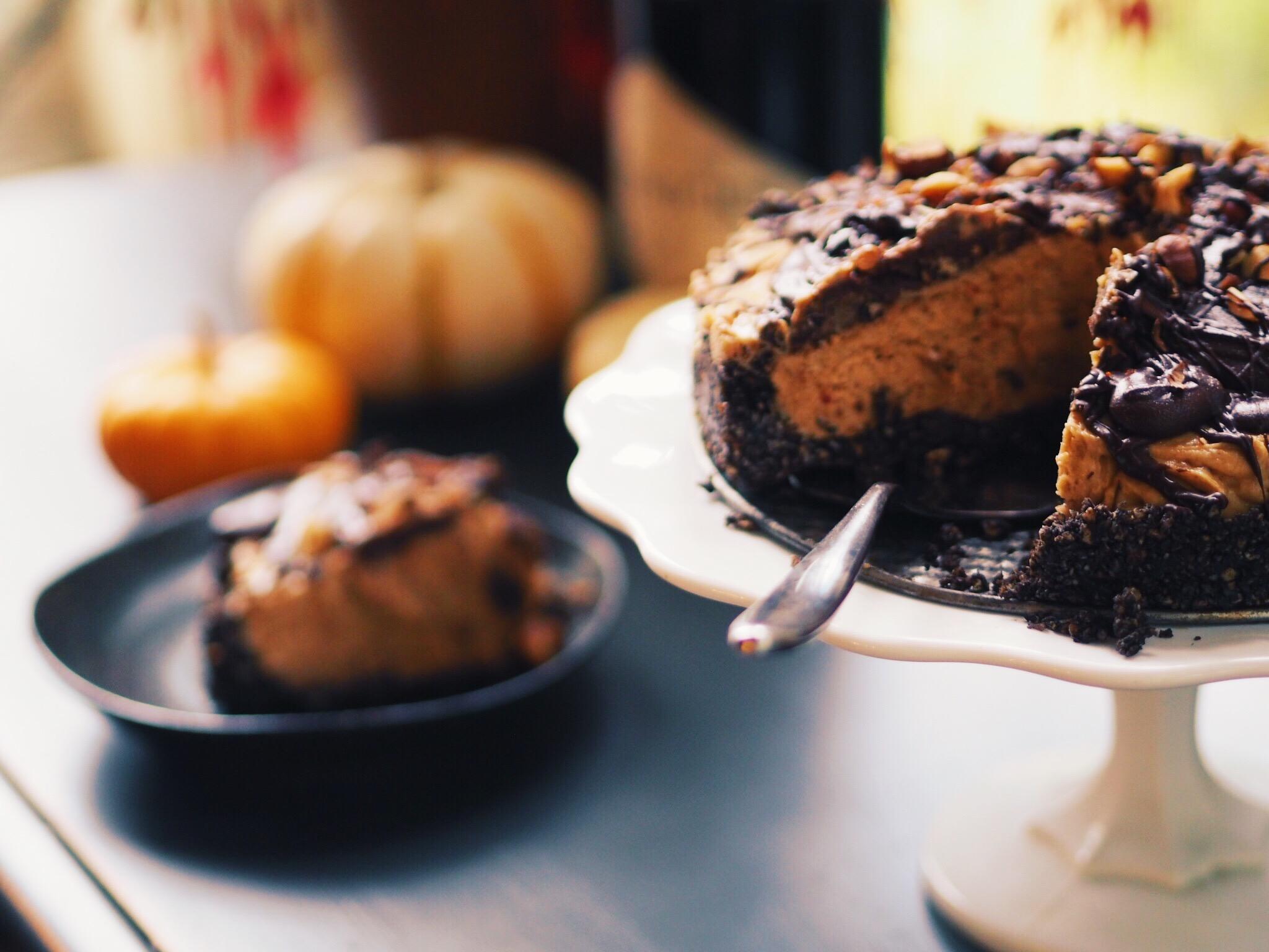 sliced peanut butter pie
