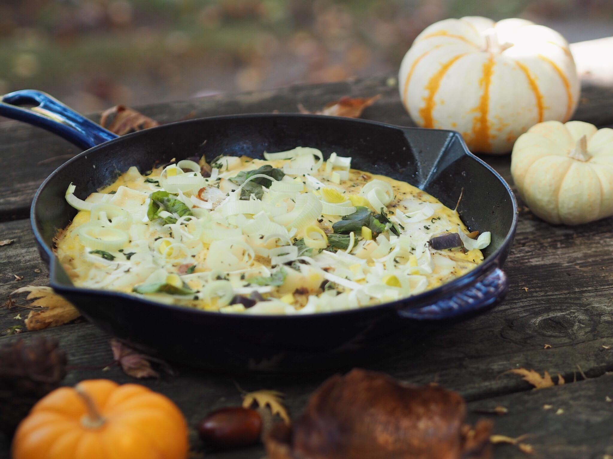 pear, brie, frittata, fall foods