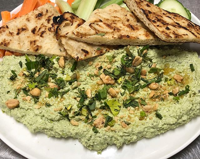 Check out our new Snap Pea Hummus appetizer! Served with carrots, celery & grilled pita bread .⠀⠀⠀⠀⠀⠀⠀⠀⠀⠀⠀⠀ ⠀⠀⠀⠀⠀⠀⠀⠀⠀⠀⠀ . . ⠀⠀⠀⠀⠀⠀⠀⠀⠀⠀⠀⠀⠀⠀⠀⠀⠀⠀⠀⠀⠀⠀⠀ #TheSquareSharon #EatDrinkGather #LetsMeetAtTheSquare #EatLocal #LocalEats #FarmToTable #Vegetarian #Vegan #VeganEats