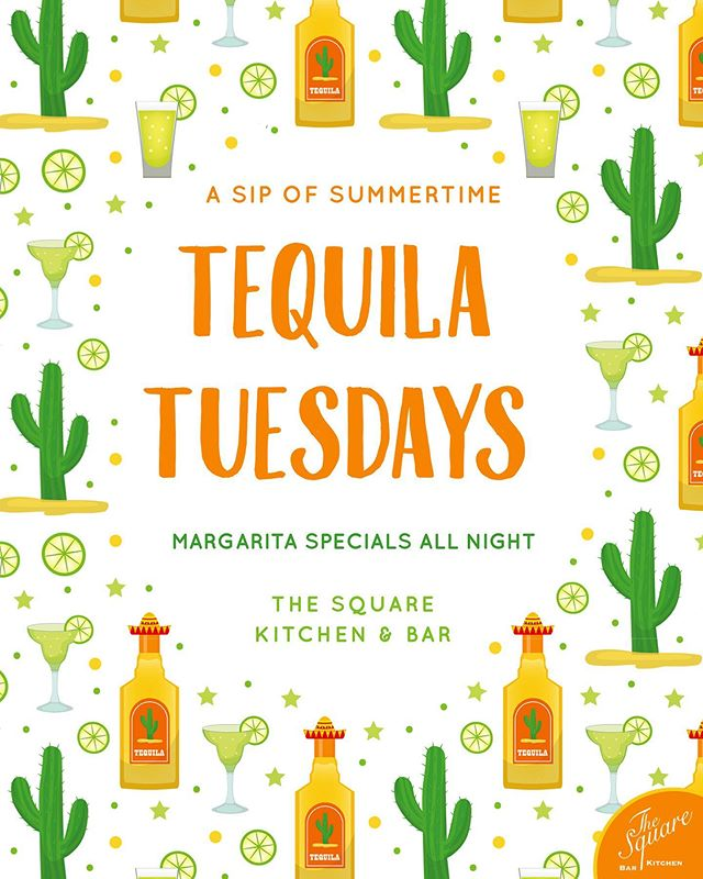 It's Tequila Tuesday at The Square! Taste a sip of summertime with one of our special margaritas ☀️ .⠀⠀⠀⠀⠀⠀⠀⠀⠀⠀⠀⠀⠀⠀⠀⠀⠀⠀ . .  #TheSquareSharon #EatDrinkGather #LetsMeetAtTheSquare #DrinkLocal #TequilaTuesday #Tequila #Margaritas