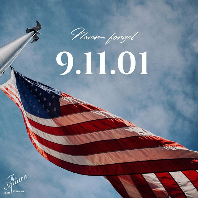 """""""A time to remember those who died, those who survived, and those who carry on"""" 🇺🇸 . . . #9/11 #NeverForget #TheSquareSharon #EatDrinkGather #LetsMeetAtTheSquare"""