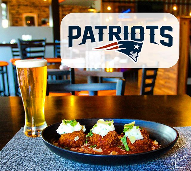 """Game day is around the corner! Cheer on the Pats this Sunday 9/15 at The Square 🏈 OPEN @ NOON - """"Game Day"""" Menu & Specials available during the game . . . #TheSquareSharon #EatDrinkGather #LetsMeetAtTheSquare #NewEnglandPatriots #Patriots #Pats #PatsNation #TB12"""