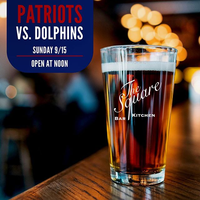 A Sunday well spent brings a week of content! Spend your Sunday at The Square 🏈 Open at 12pm! . . . #TheSquareSharon #EatDrinkGather #LetsMeetAtTheSquare #NewEnglandPatriots #Patriots #Pats #PatsNation #TB12