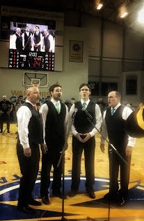 Seaside Quartet opening the Santa Cruz Warriors game with the National Anthem