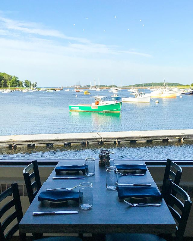 What a view! Clear skies, sea breeze, and the calmness of our newly opened dock sets the perfect setting for a picnic on the boat at The Olde Salt House. Tie up and enjoy a meal with us today!