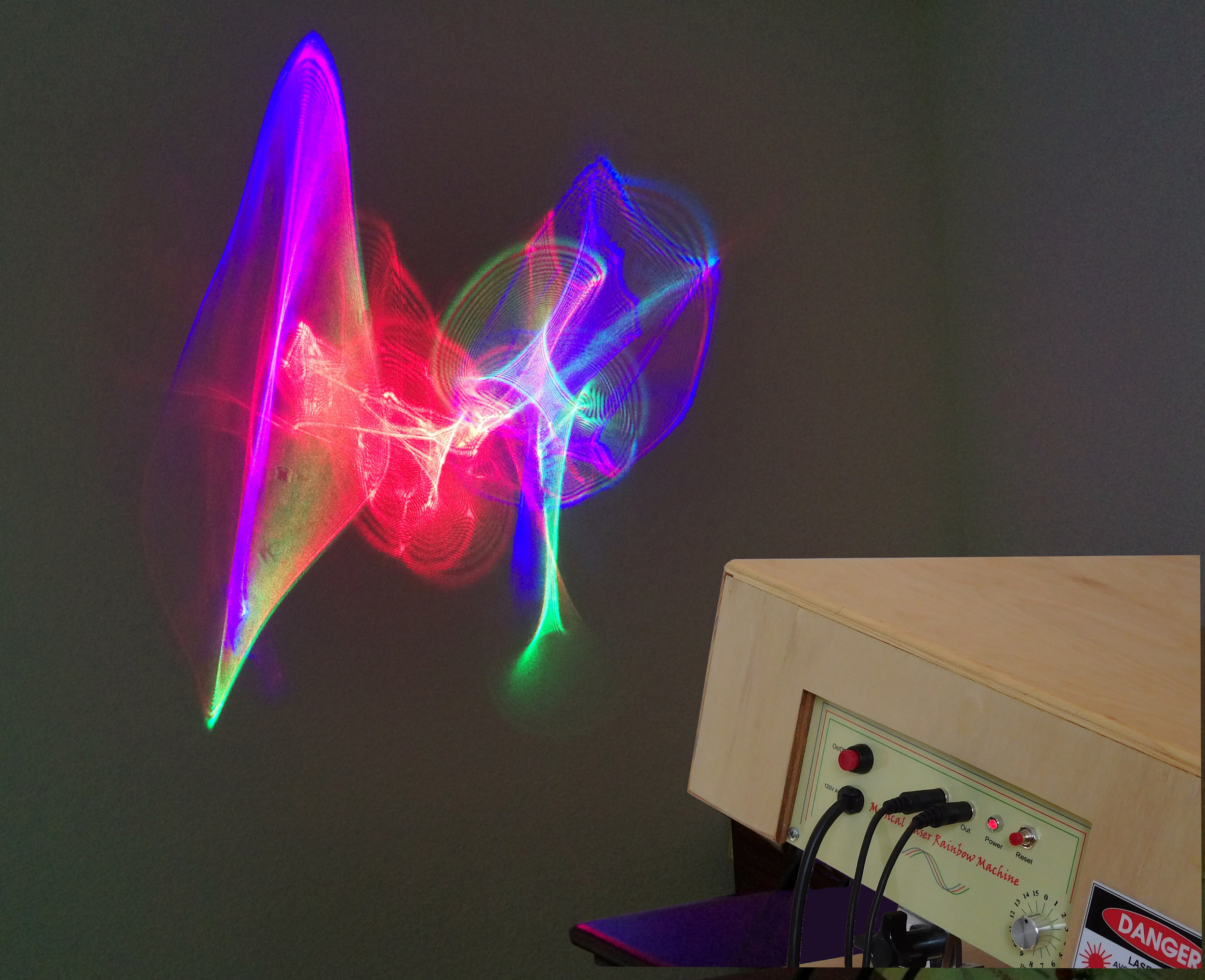 Musical Laser Rainbow Machine - Video