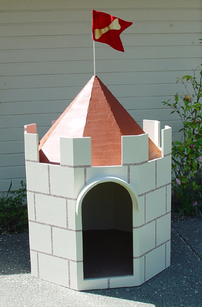 "Castle Doghouse - I made this to be auctioned for the North Bay Humane Society, at their benefit dinner ""Barkitechture""."