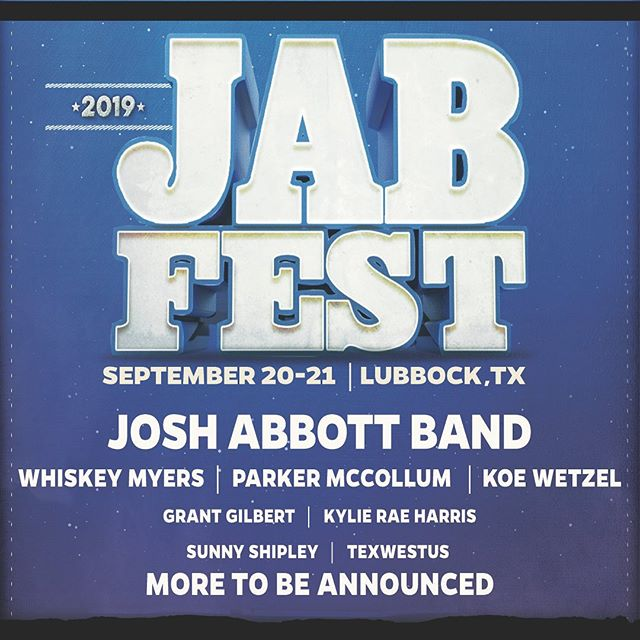 Lubbock! Pumped to be a part of this JAB Fest Lineup. 2 day passes on sale now, come party LBK!