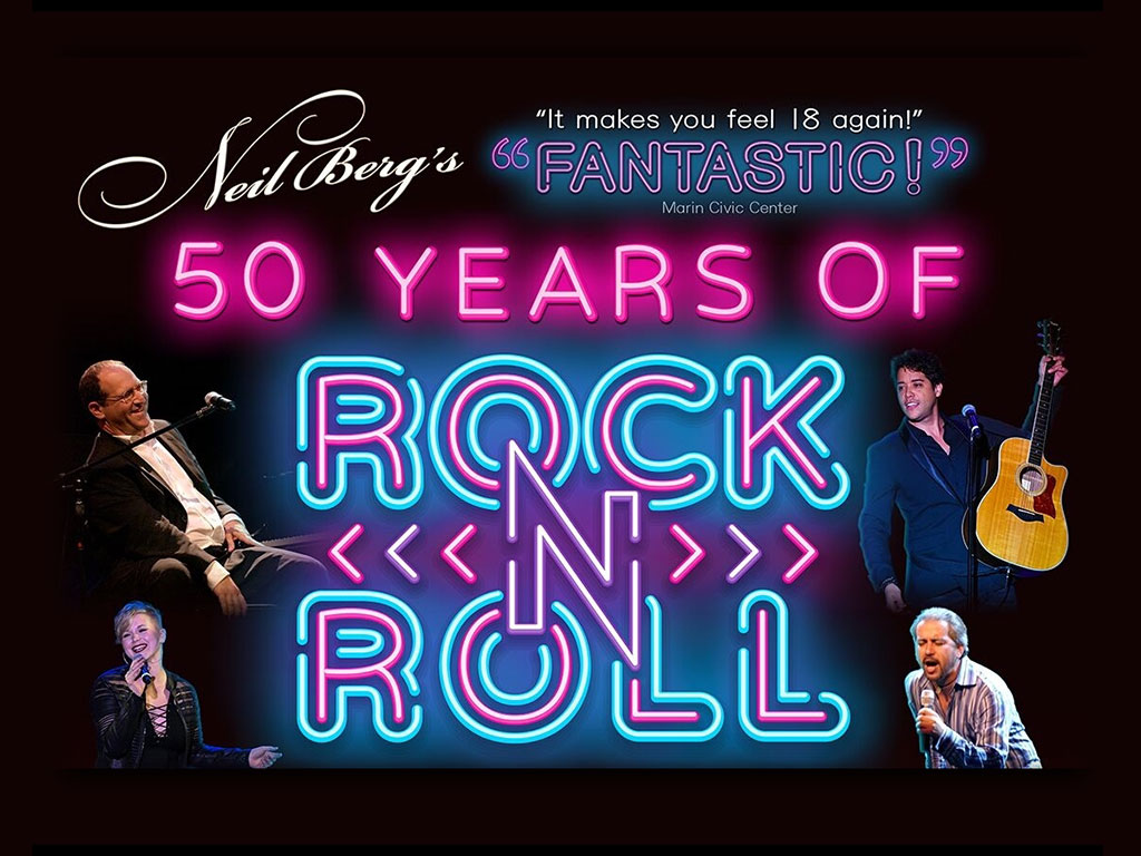 Neil Berg's 50 Years of Rock & Roll - Thursday, May 14 at 7:30pmWith a cast consisting of both stars from Broadway's greatest rock musicals, as well as incredible Rock & Roll singers, Neil Berg shares the often unknown stories from the fifty-year history of the music that changed the world forever!Tickets: $45 - $55/17 & under: $20CLICK HERE FOR MORE INFO