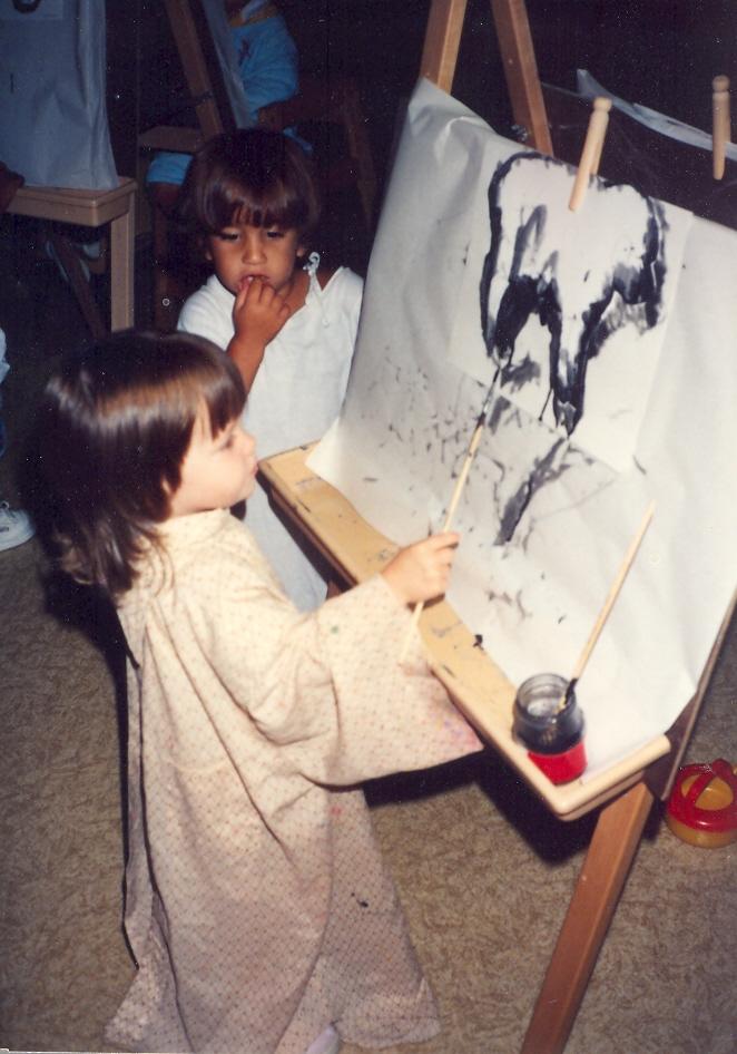 1991-8 buddingArtist StephanieB & Joojoo.jpg