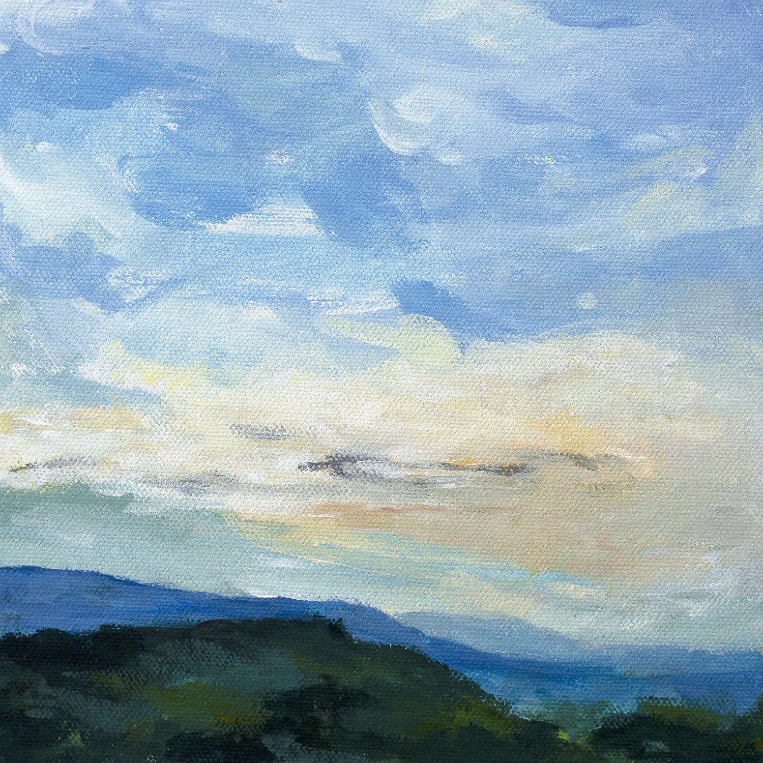 Small Provence landscape painting by artist Stephanie Kirkland | 8x8 Roussillon full.jpg
