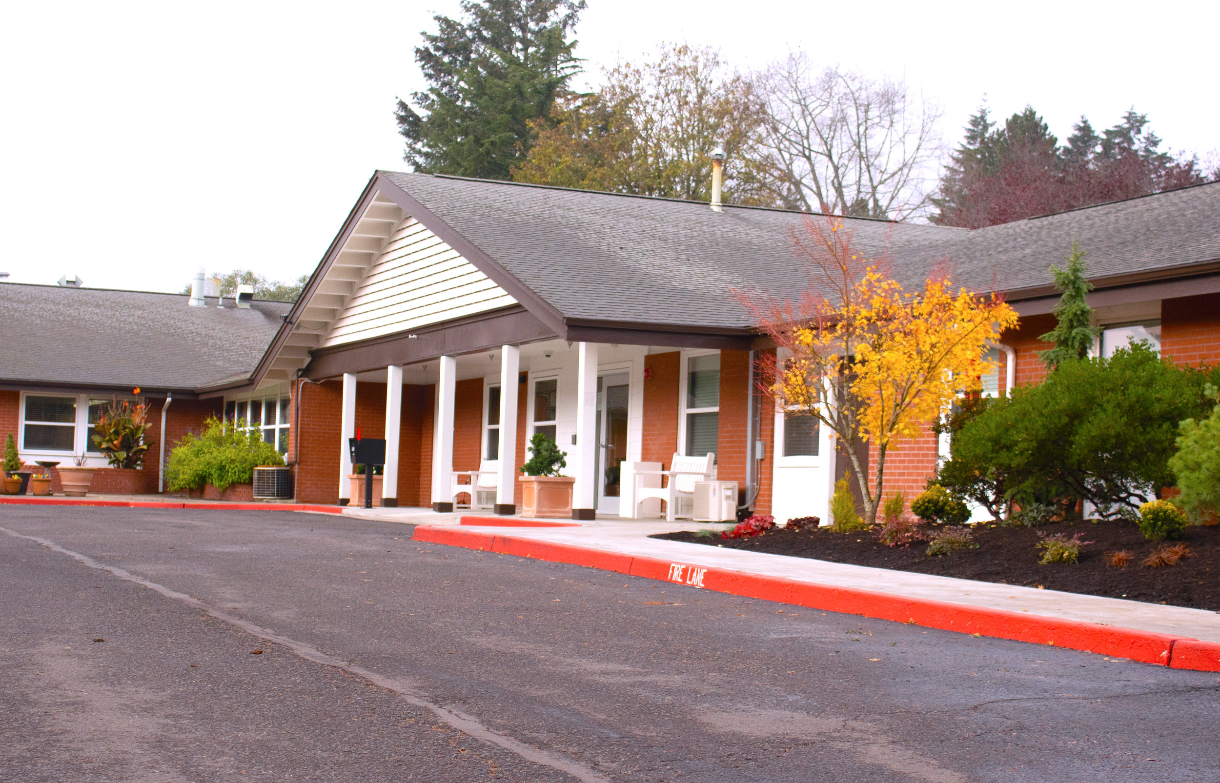 Village Health Care facility's main entrance