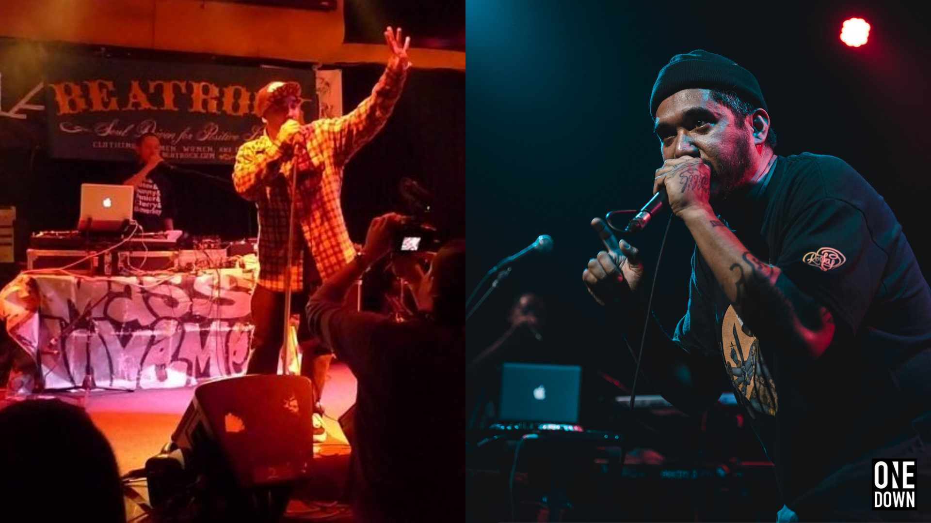 Bambu DePistola, President of Beatrock Music, performing at the Launch in 2009 (left) and at the 10-Year Anniversary Festival in 2019 (right). Left Photo from Beatrock Music | Right Photo by @davidregoso