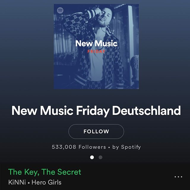 Amazing!🤩 Thanks @spotify @spotifyde #newmusicfriday #newmusicfridaydeutschland  Check link in bio✨