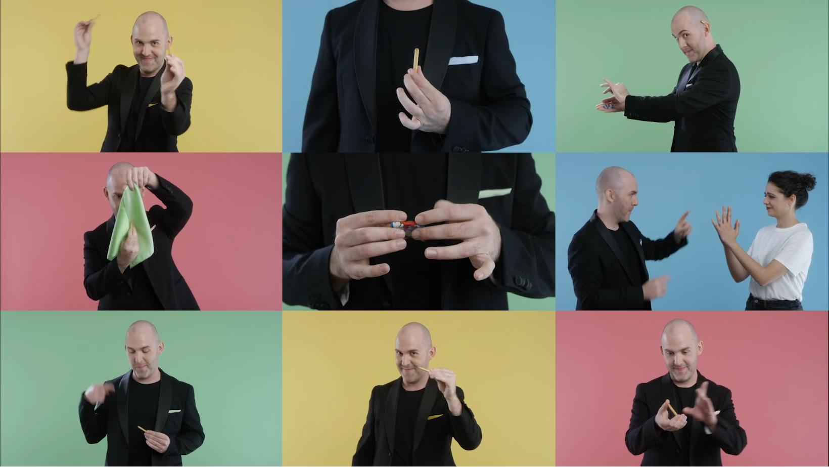 Campagne Youtube de tutoriels magie réalisés pour le groupe Bel (opération d'activation produit monde 10 pays) en coopération avec les agences Rosbeef et Motion Palace.