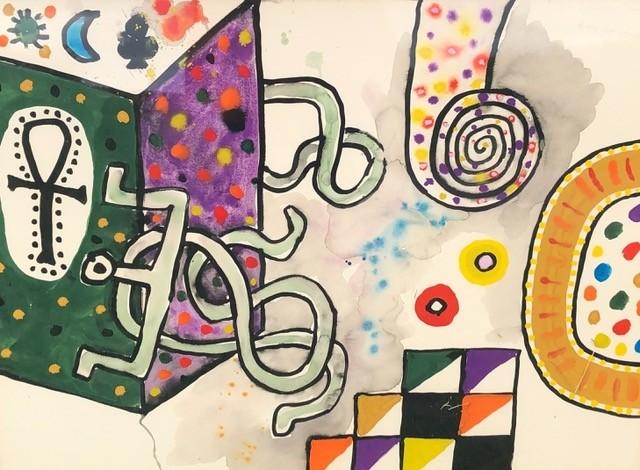 A gloriously loose suggestive Alan Davie on show @freyamitton at Saatchi Gallery this month.⠀⠀⠀⠀⠀⠀⠀⠀⠀ .⠀⠀⠀⠀⠀⠀⠀⠀⠀ .⠀⠀⠀⠀⠀⠀⠀⠀⠀ .⠀⠀⠀⠀⠀⠀⠀⠀⠀ #artfair #fairforsaatchi #popup #saatchigallery #contemporaryart #modernart #alandavie