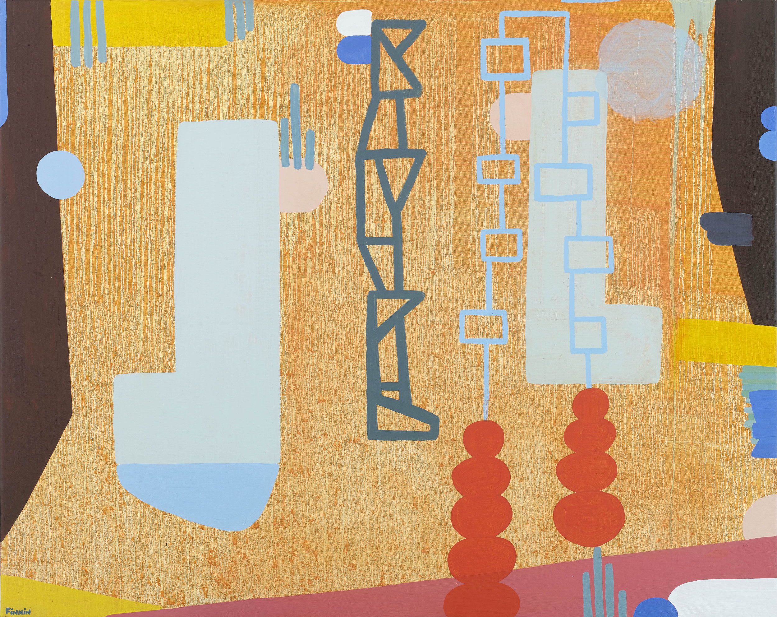Martin Finnin,  (b. 1968), Dreams of Balconia, Oil on Canvas, 2019, 120 x 150 cm.