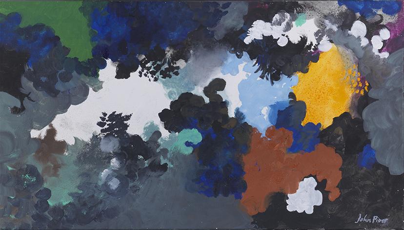 John Piper (1903 - 1992),  Fawley VI, Oil and Sand on Canvas, 50.8 x 91.5 cm.
